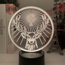 Led Night Light Lamp Jagermeister 16 Colors Change Touch