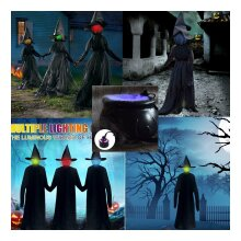 170cm Halloween Light-Up Witches Ghost Halloween
