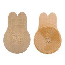 2Pairs Invisible Lift Up Bra Women Porous Strapless Rabbit Ear Shape Breast Lift Tape Sticky Nippleless