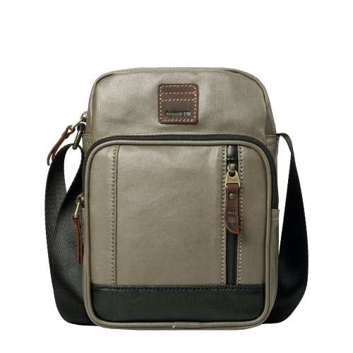 TRP0518 Troop London Heritage Coated Canvas Casual Crossbody Bag, Small Acrossbody Bag