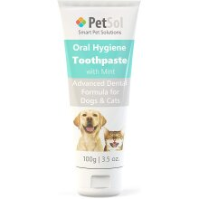 PetSol Toothpaste For Dogs & Cats (100g) Improve Gum, Tooth Health & Oral Hygiene. Freshen Dog Breath Remove & Reduce Plaque. Fresh Breath D
