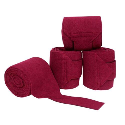(BURGUNDY- 3 MTR) Luxury Fleece Polo Bandages 3 M Dressage / Exercis