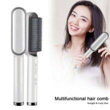 Hair Straightener Brush Comb Curlers Styler