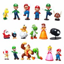 18 pcs Lot Super Mario Bros Action Figure Doll
