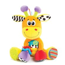Playgro Soft Toy Giraffe, Learning Toy, From 0 Months, BPA-free, Discovery Friend Giraffe, Orange/Multicoloured, 40155