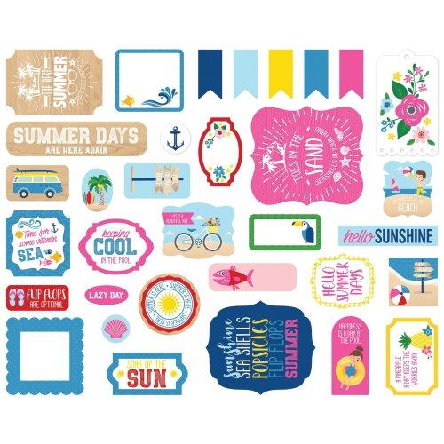 Echo Park Cardstock Ephemera 33/Pkg-Icons, I Love Summer