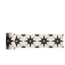 Astra Black Pattern Tile Stickers,20 x 300 cm