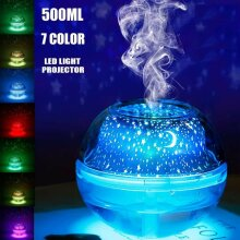 Essential Oil Aroma Diffuser LED Ultrasonic Humidifier Air Purifier Night Light