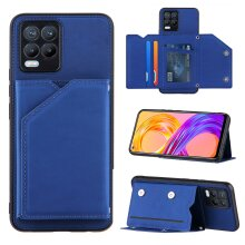 OPPO Realme 8 Leather Case with Card Slots -Blue
