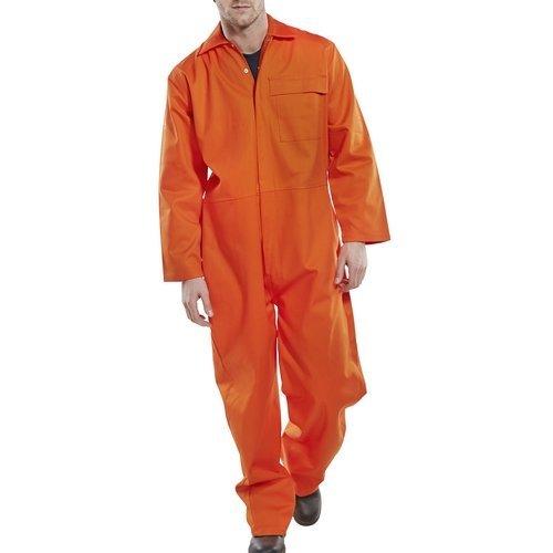 "Click CFRBSOR36 Flame Retardant Boiler Suit Orange 36"""