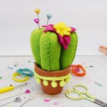The Make Arcade Pin Cushion Kit - Prickly Cactus
