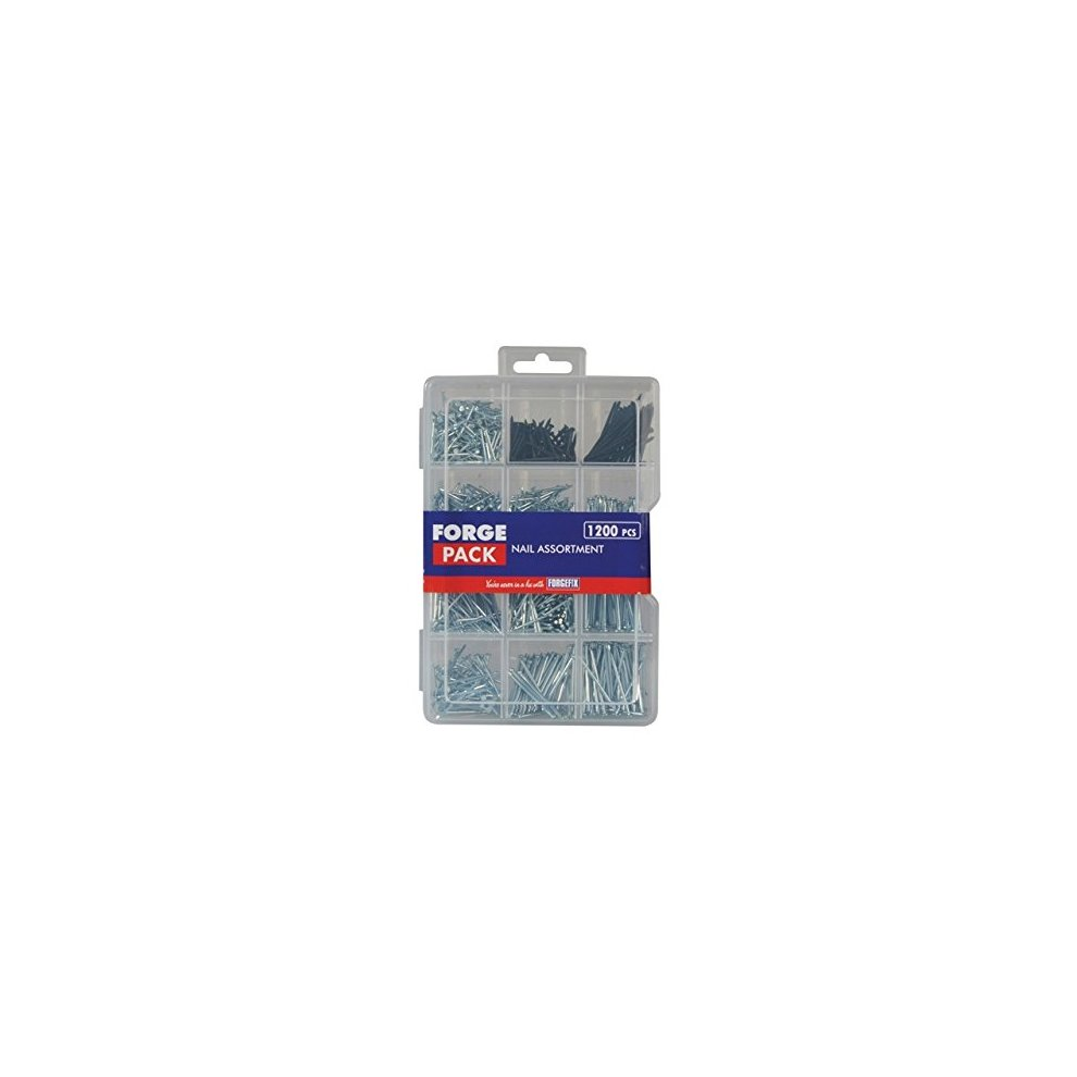 Forgefix FPNLSET Assorted Nail Kit Forge Pack 1200 Piece