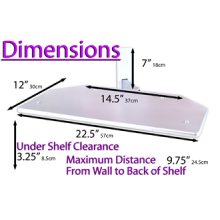 """Troy CRT Wall Mount in Silver Up To 21"""" TV Max Supported Weight 30kg"""