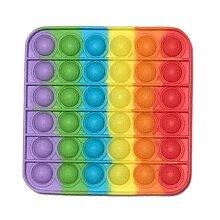 Square Pop It Finger Push Pop Pop Bubble Sensory Fidget ToyAutism Kids