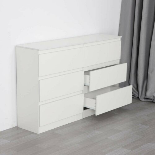 White Chest of Drawers Bedroom Furniture Hallway Tall Wide Storage Draws