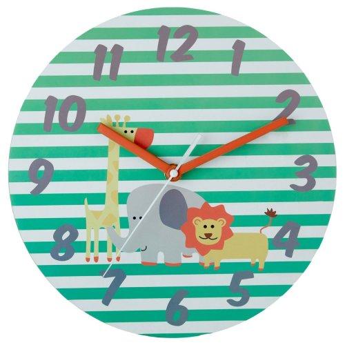 Kids Safari Wall Clock, Multi-coloured