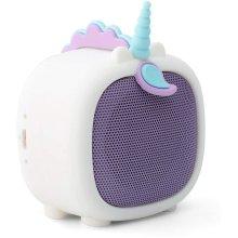 KitSound Boogie Buddy Portable Bluetooth Mini Speaker - Unicorn (White)