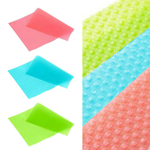 (Green) 4PCS Easy Clean Kitchen Antibacterial Cabinet Pad