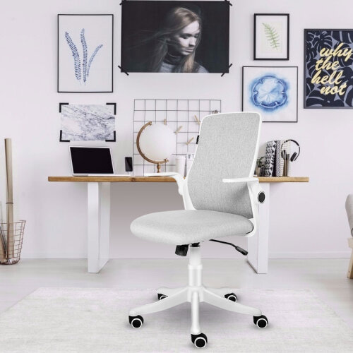 ELECWISH Office Chair Ergonomic Mid-back Study Chair with 30° Swing