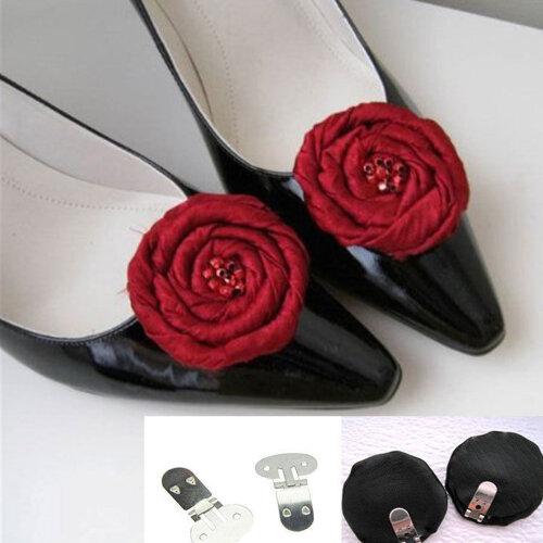 10x Blank Shoe Clip Wedding Brooch Craft Buckles Bridal Accessorie Decor