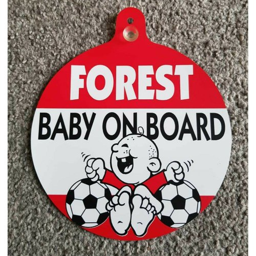 "Nottingham Forest FC Car Window Hanger ""Forest Baby On Board"""