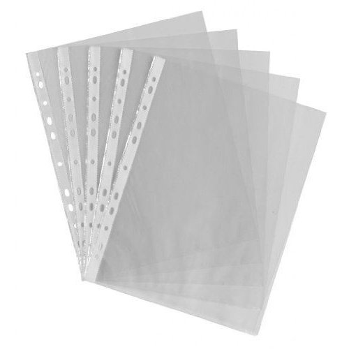 50x A4 Premium Punched Pockets Clear Plastic Wallets Sleeves Document Folders