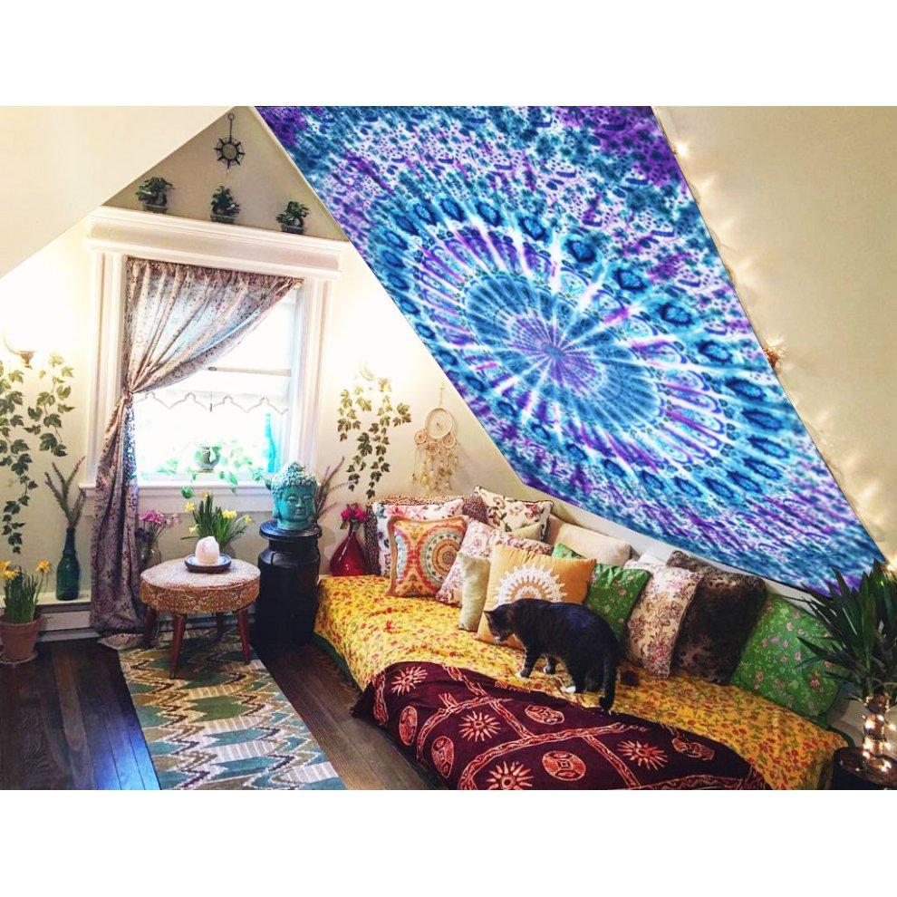 New Mandala Tie Dye Tapestry Hippie