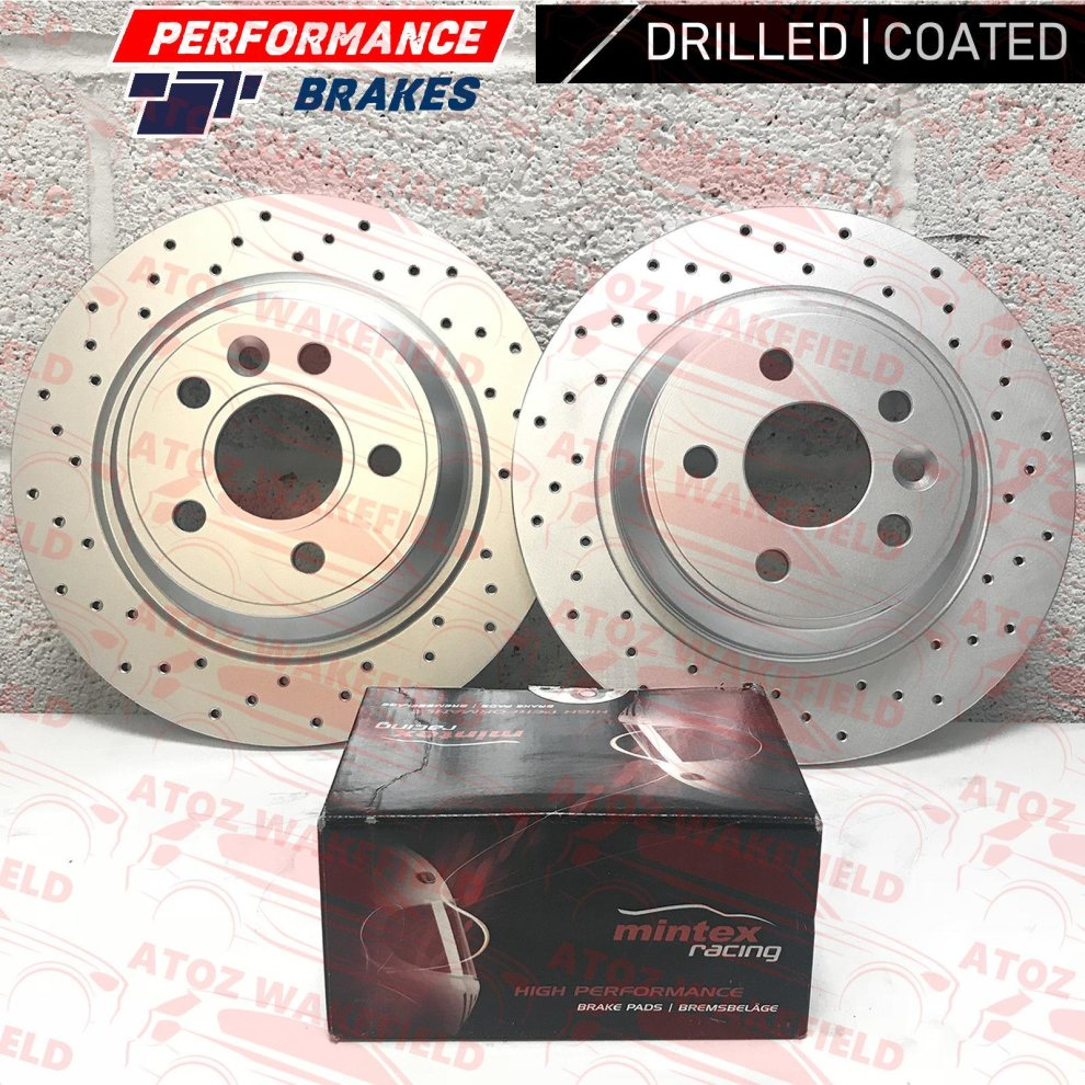 FOR BMW MINI ONE COOPER S REAR BRAKE DISCS MINTEX PADS 02
