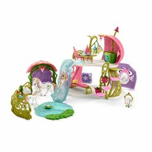 Schleich bayala 42445 Glittering flower house with unicorns, lake and stable (New)
