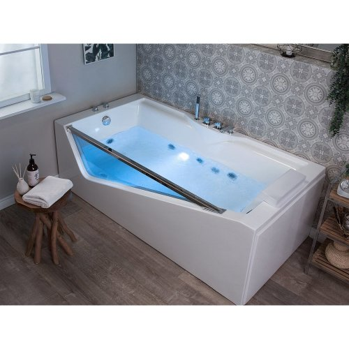 Whirlpool Bath with LED White MARQUIS