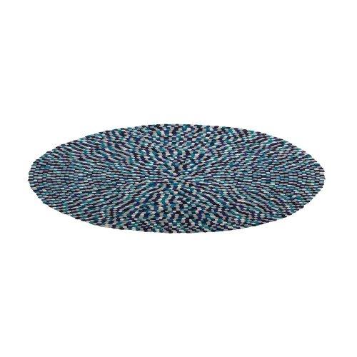 Round Felt Ball ø 140 cm Multicolour Blue AMDO