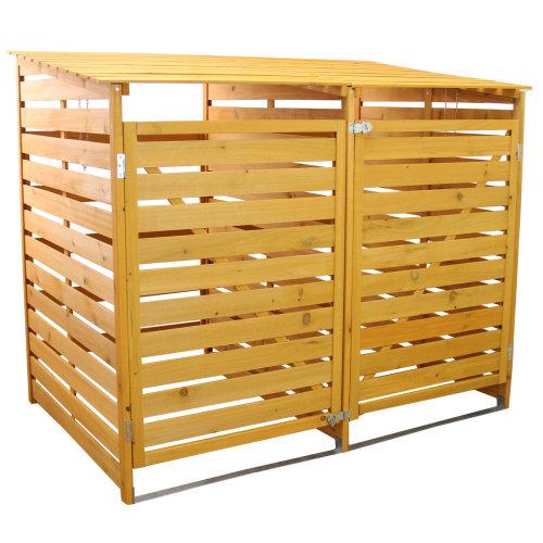 Double Wheelie Bin Store | Wooden Outdoor Bin Shed