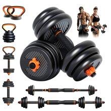 YOLEO Adjustable Dumbbells Set, 6 in 1 Weight Set Suitable for Home Gym Workout (20KG)