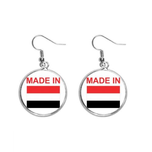 Made In Yemen Country Love Ear Dangle Silver Drop Earring Jewelry Woman