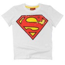 Superman T Shirt - Retro White