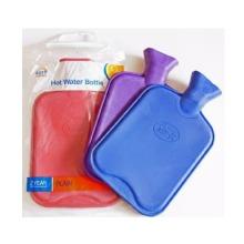 Rubber Plain Hot Water Bottle - Blue