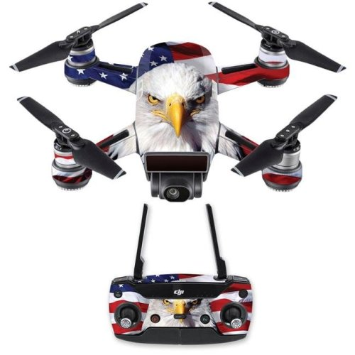 MightySkins DJSPCMB-America Strong Skin Decal for DJI Spark Mini Drone Combo - America Strong