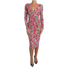 Pink Silk Cup Cake Sheath Stretch  Dress