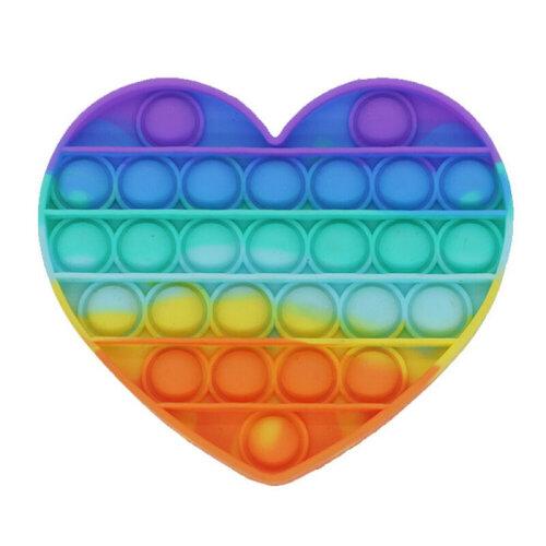 (Heart Shape) Push Pop Pop Bubble Sensory Fidget Toy Autism Special Needs Silent Classroom