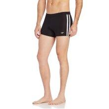 Speedo Men's Swimsuit Square Leg Splice,Speedo Black,Large