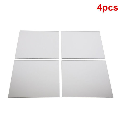 Self Adhesive Wall Mounted Bathroom Kitchen Bedroom Mirror Tiles 20cm