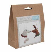 Felt Decoration Kit: Deer & Polar Bear