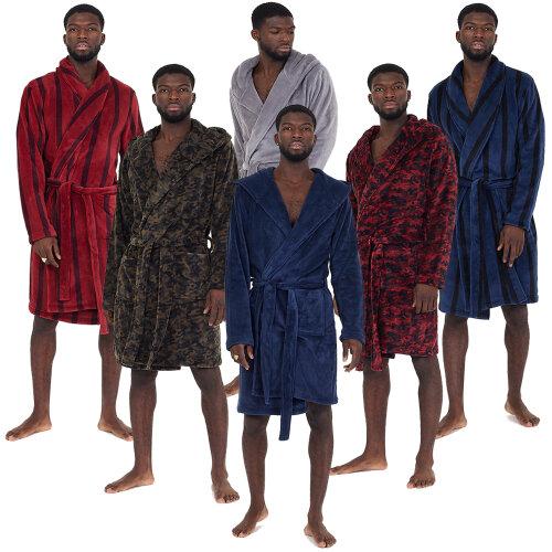 Men Dressing Gown Robe Snuggle Fleece Brave Soul