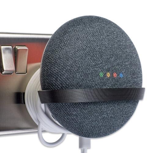 Plug Mount for Google Home Mini Wall Mount Bracket Holder Tiny Black P3D-Lab