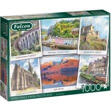 Jumbo Falcon Deluxe 1000 Piece Jigsaw - Greetings from Scotland