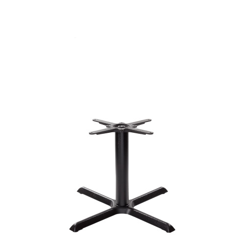 Black cruciform table base - Medium - Coffee height - 480 mm