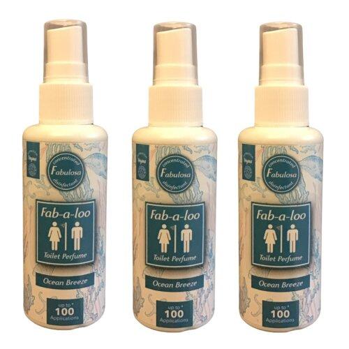 Fabulosa Fab a Loo Ocean Breeze 60 ml Vegan Three Bottles