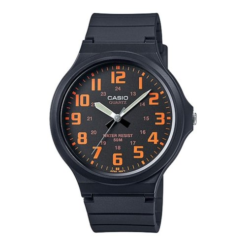 Casio MW240-4BVEF Men's Analogue Watches with Resin Rubber Strap