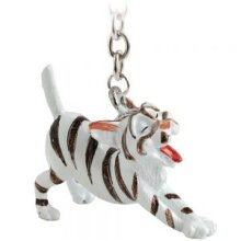 Little Paws Keyring -Silver Tabby Cat