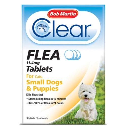 (Puppies & Small Dogs Under 11kg) Bob Martin Clear Cat & Dog Flea Tablets
